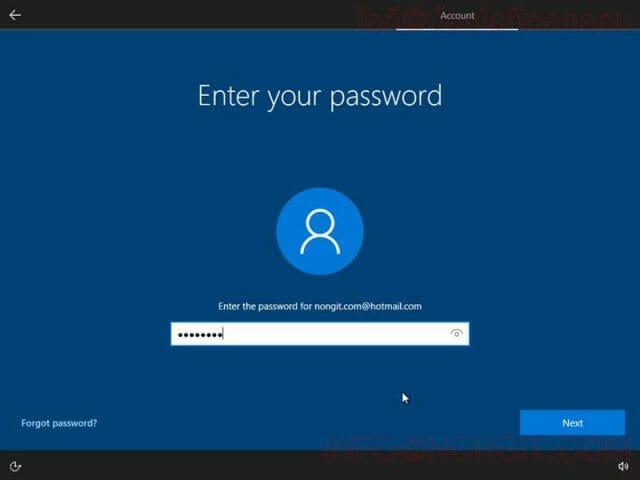 วิธีตั้งค่า User ตอนลง Windows 10 รูปที่ 7