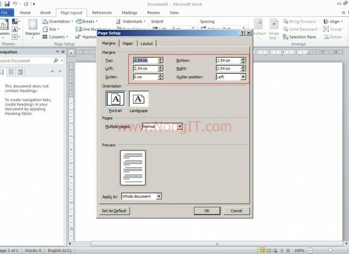 ตั้งค่าหน่วยหน้ากระดาษ Word จากเซ็นติเมตร (ซม.) เป็นนิ้ว MS. Word 2010/2013