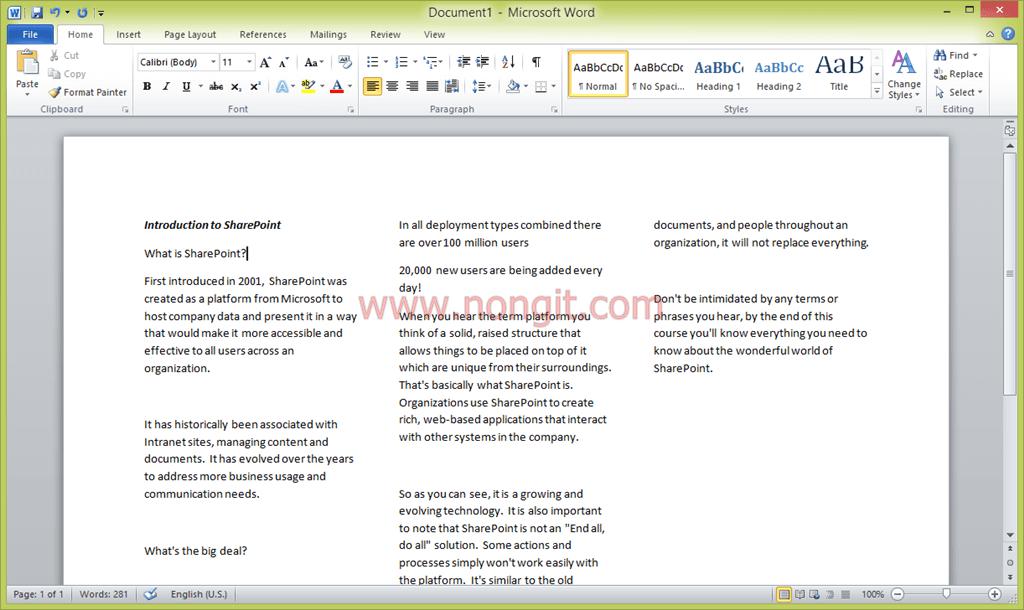 วิธีการทําแผ่นพับใน Microsoft Word 2010/2013