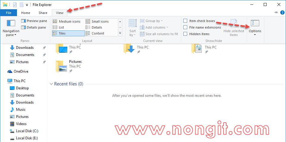 วิธีตั้งค่าให้ Windows 10 File Explorer เปิดเป็น This PC