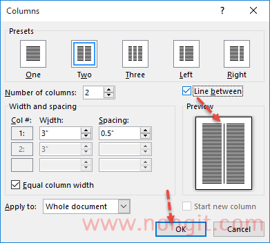 how to move columns in word