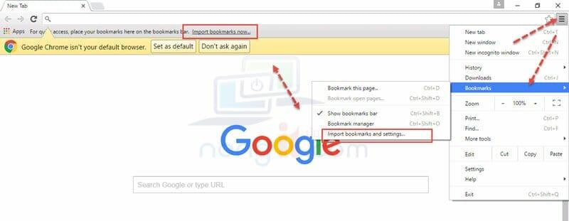 วิธีการ Export / Import Bookmark Google Chrome - NONGIT COM