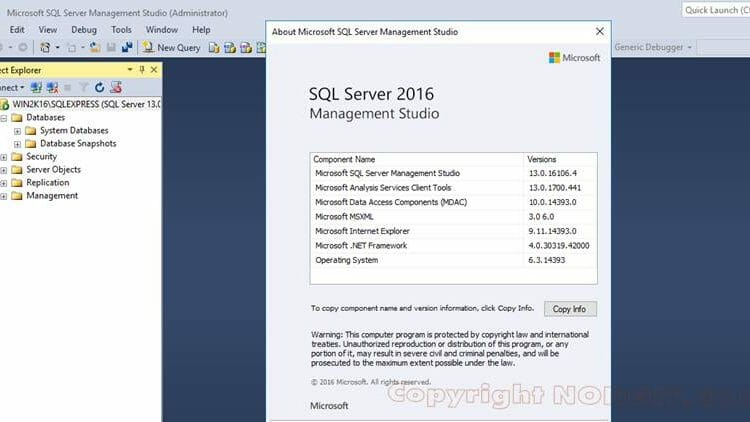 ติดตั้ง SQL Server 2016 Management Studio
