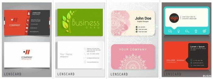 Lenscard -Business Card Maker