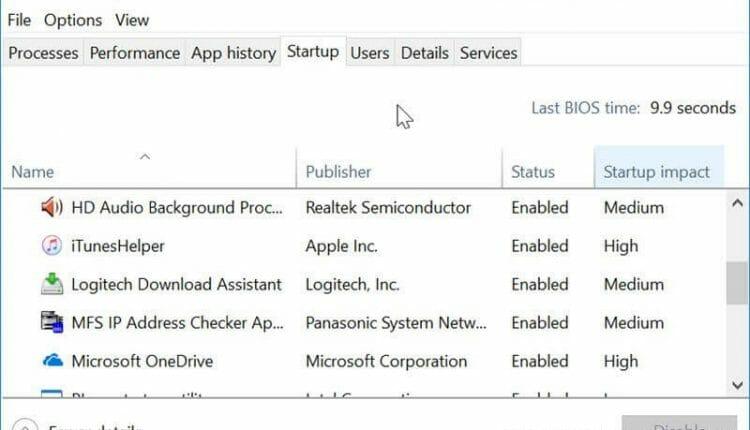 วิธีปิดโปรแกรม Startup ใน Windows 10
