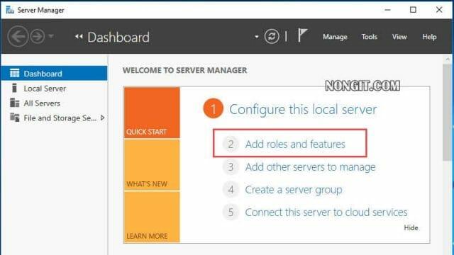 Server Manager 2016