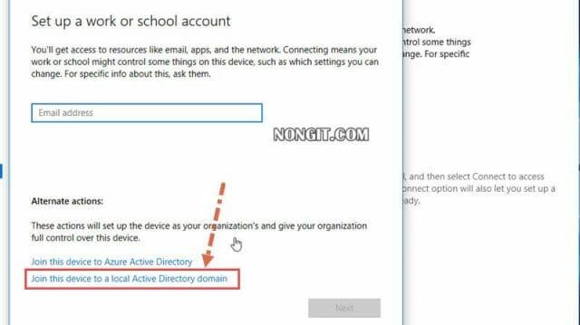 รูปตัวอย่างที่สาม วิธีการ Join Domain Windows 10