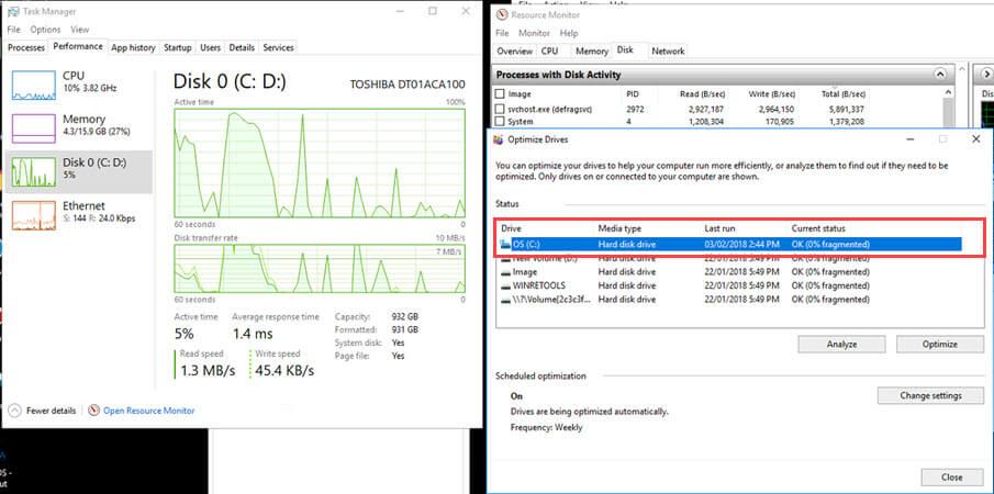 Fix] วิธีแก้ไข Disk usage (ฮาร์ดดิสก์) ทำงาน 100% ตลอดใน