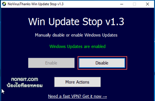 Win Update Stop disable