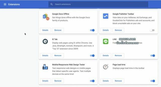 วิธีลบปลั๊กอิน Google Chrome