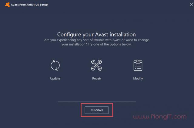 การลบ Uninstall Avast Free Antivirus