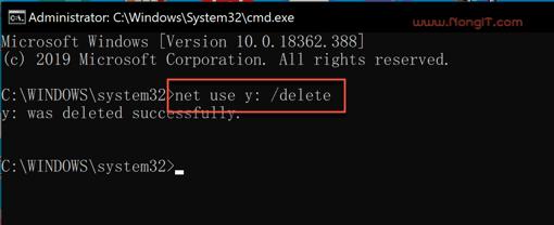 net use /delete