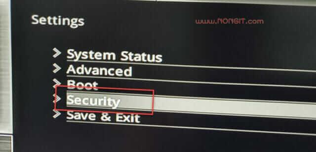 ตั้งค่า Security msi z390