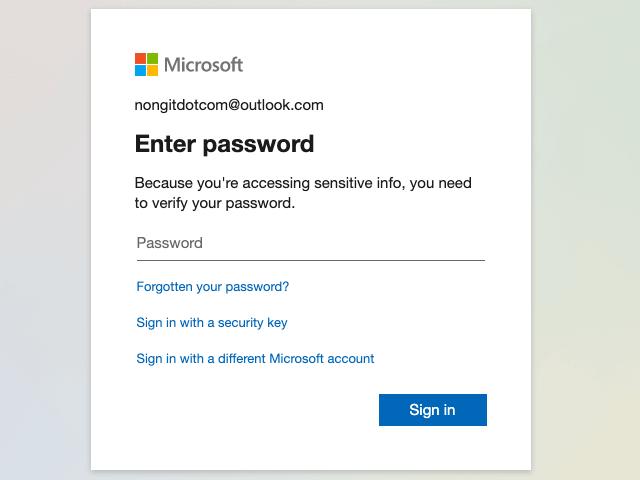 ยืนยันบัญชีด้วยรหัสผ่าน