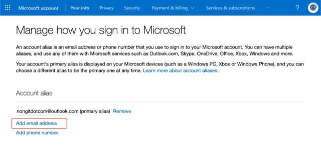 Manage how you sign in to Microsoft