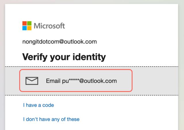 Verify your identity ของ microsoft